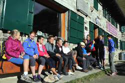 Une semaine de vacance au réfuge Vittorio Sella